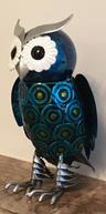 View Item 20cm Hand Painted Metal Owl Gift Ornament Figurine Retro Novel Decoration