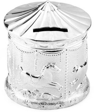 Beautiful Silver Carousel Moneybox Christening Gift Preview