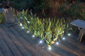 8 White LED Decking Lights. 12v Electric Low Voltage Garden Lights Preview