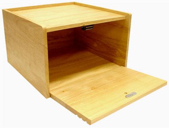 Large 12 Wooden Bread Bin With Magnetic Drop Door