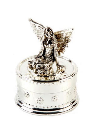 Baby Christening Gift. Silverplated Tooth Fairy Trinket Box Preview