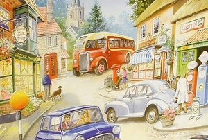 Big 250 Piece Jigsaw Puzzle Country Town - Mini Car & Bus Preview