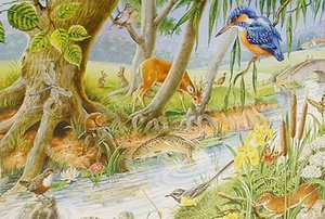 Big 250 Piece Jigsaw Puzzle By The Riverbank - Wildlife At River Preview