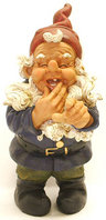 "View Item Tall 17"" Novelty Garden Gnome Ornament Pointing - Blue"