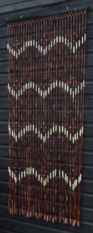 Brown Natural Wooden Bamboo Beaded Bead Door Curtain Pr 4 Images Frompo
