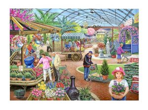 1000 Piece DeLuxe Jigsaw Puzzle - At The Garden Centre Preview