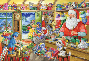 2010 Christmas Edition No.5 500 Piece Jigsaw Puzzle - Santa's Workshop Preview