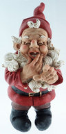 "View Item Tall 17"" Novelty Garden Gnome Ornament Pointing - Red"