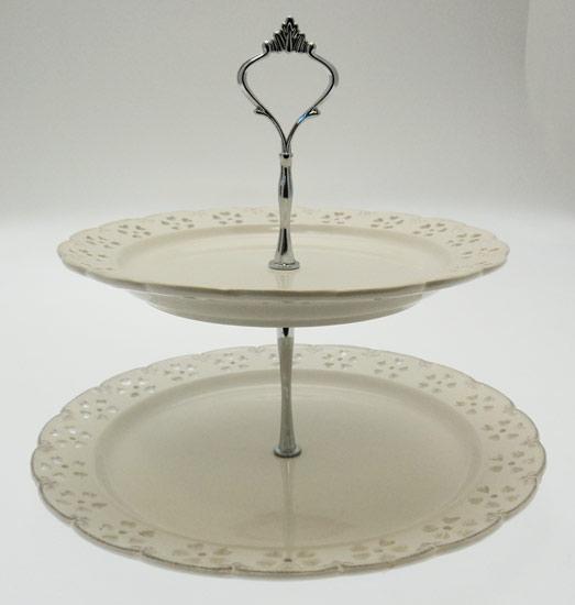 Porcelain Decorative Three Tier Cake Stand