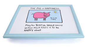Bean Bag Cushion Lap Tray. Edward Monkton Pig Of Happiness Preview