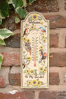 View Item 12&quot; Decorative Garden Birds Design Outdoor Thermometer