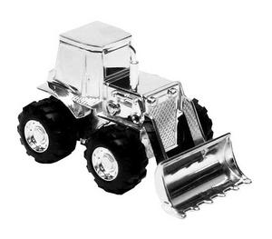 Christening Gifts. Silverplated Digger Tractor Money Box Preview