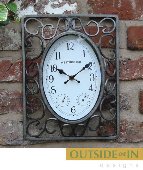 outside in design ornate outdoor garden wall clock with