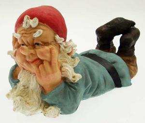 "Large 13.5"" Garden Gnomes Ornament - Gnome Laying Down #B Preview"