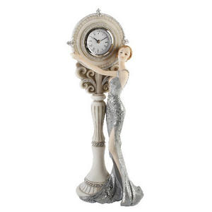 Art Deco Blenheim Ladies Figurine - Silver Lady Clock #61 Preview