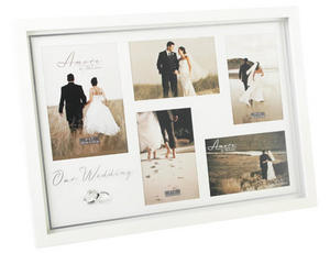 Amore Wedding Multi Photo Frame - Crystal Rings Picture Frame Preview