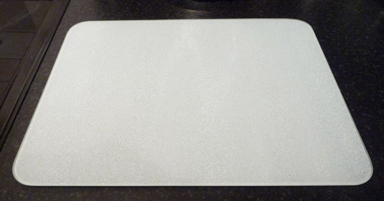 New tuftop white glass chopping board kitchen worktop for White cutting board used for