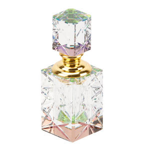 Collectable Empty Perfume Bottle 215. Art Deco Rainbow Crystal Glass Design Preview