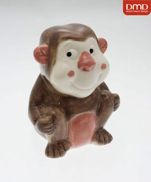 Childrens David Mason Monkey Christening Money Box Gift Preview