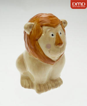 Childrens David Mason Lion Christening Money Box Gift Preview