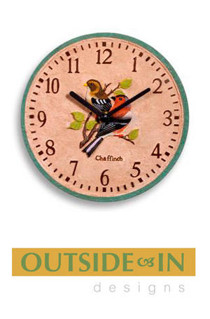 Decorative Chaffinch Design Indoor Outdoor Wall Clock Preview