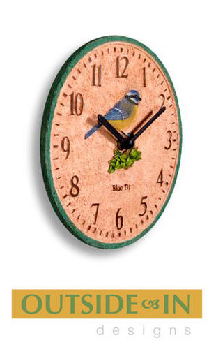 Decorative Blue Tit Design Indoor Outdoor Wall Clock Preview