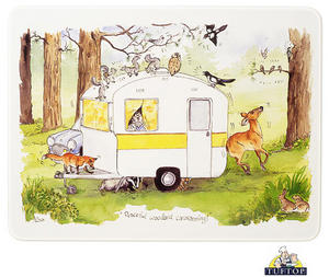 Tuftop Glass Chopping Board Alisons Animals Peaceful Woodland Caravanning Preview