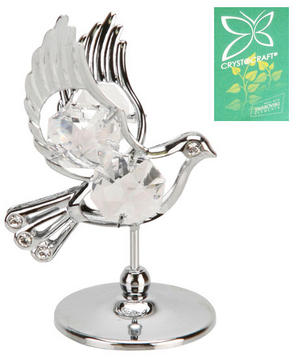 Crystocraft Silveplated Dove Gift Ornament Preview