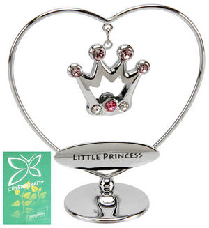 Crystocraft Heart Ring Gift Ornament Little Princess Pink Preview