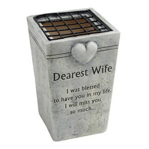 Graveside Memorial Flower Pot Holder DEAREST WIFE Preview