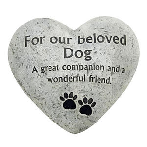 In Loving Memory Graveside Heart Plaque Stone Beloved Pet Dog Grave Memorial Preview