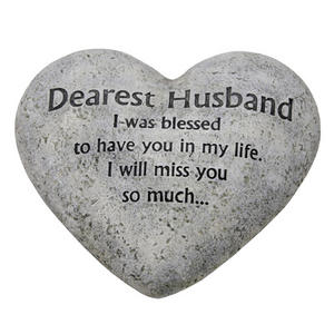 Graveside Memorial Heart Plaque Dearest Husband Preview