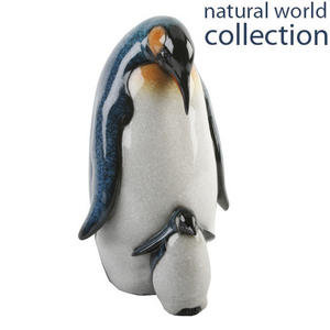 Natural World Collection Stone Effect Ornament Mother and Baby Penguin Preview