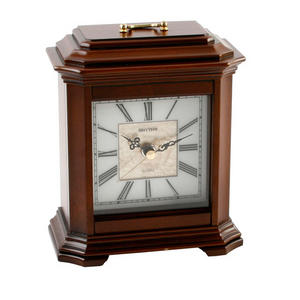 Classic High Quality RHYTHM Square Wooden Mantel Clock Preview