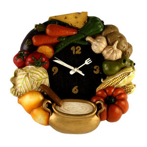 Kitchen Wall Clock Vegetables Preview