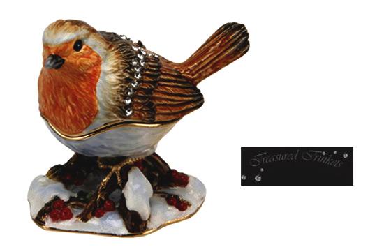treasured trinkets collectable red robin bird die cast