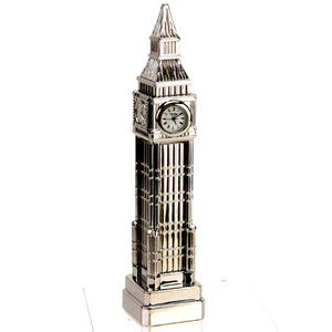 Miniature Novelty Clocks Silver 21cm Big Ben Preview