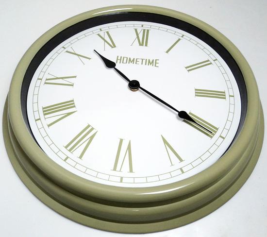 Hometime Wall Clocks Large 40cm Retro Pale Green Kitchen