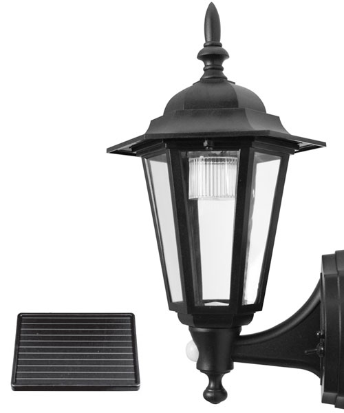 Solar Wall Lantern Lights : LED Outdoor Solar Security Wall Lantern - Garden Solar Light PIR Motion Sensor eBay