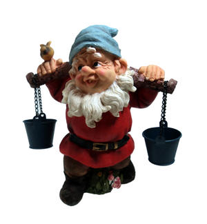 23cm Woodman Gnome Carrying Pails Of Water Garden Gnome Preview