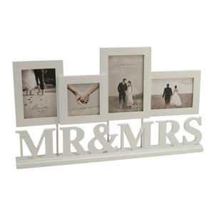Cream Amore Photo Frames. Mr And Mrs Design Preview