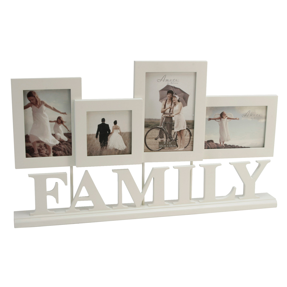 Cream Amore Wedding Family Multi Photo Frame Picture Frame