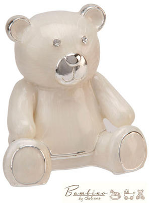 Bambino Christening Gift Silverplated Teddy Keepsake Box Preview