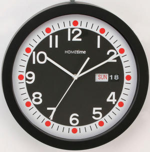 Hometime 33cm Black Retro Day and Date Wall Clock Preview