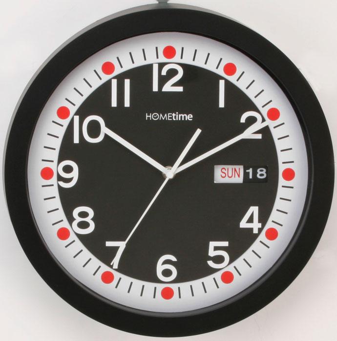 Funky Hometime Wall Clocks Large 13 Retro Black Day