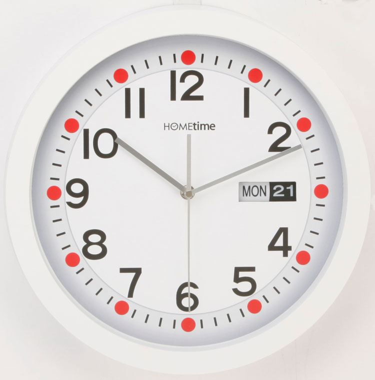 Funky Hometime Wall Clocks Large 13 Retro White Day