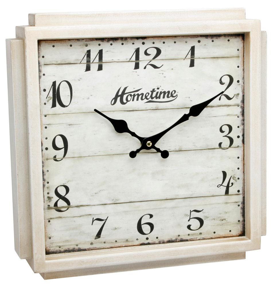Hometime Clocks Vintage Design Cream Colour Square
