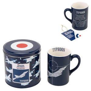 RAF Typhoon Jet Fine Bone China Mug in a Tin Box Preview