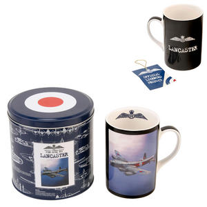 RAF Lancaster Bomber Fine Bone China Mug in a Tin Box Preview