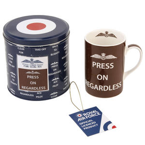 RAF Press On Regardless China Mug in a Tin Box Preview